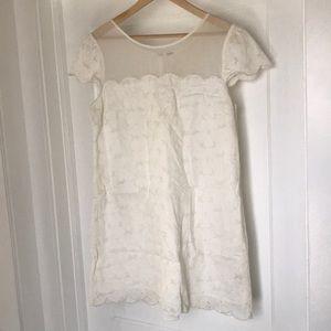 White lace free people shift dress M